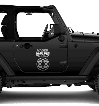 Jeep Vader Edition Wrangler Unlimited Vinyl Decal Sticker