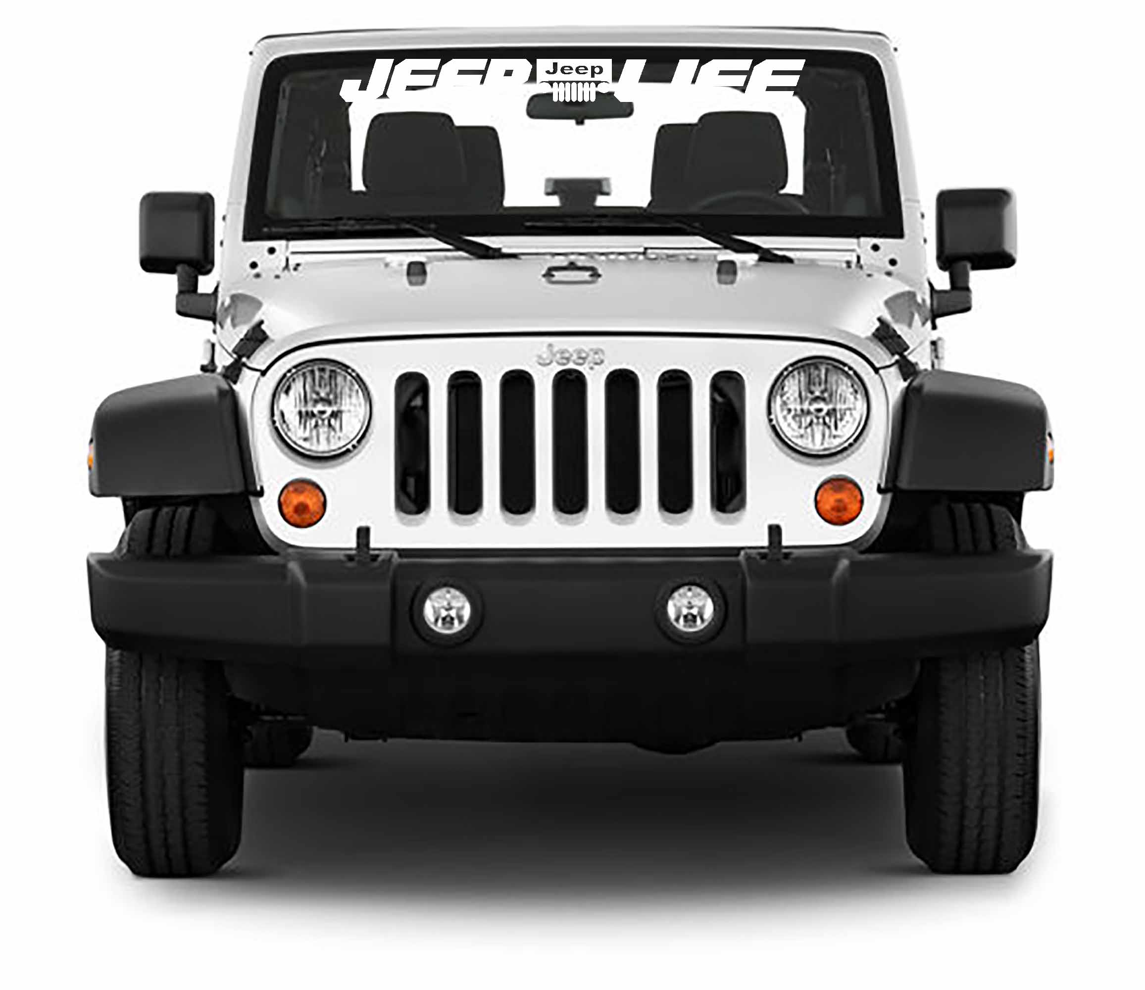 Jeep Life Windshield Banner Vinyl Decal Jeep Wrangler Decal