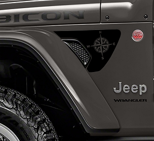 Jeep Wrangler JL JLU JT Rubicon Gladiator Nautical Compass Fender Vent Vinyl Decal