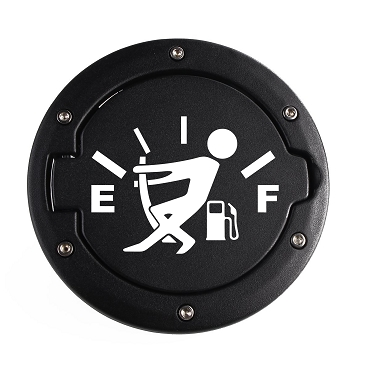 Fuel Gauge Empty Funny Car Decal - Empty Gas Tank Vinyl Decal