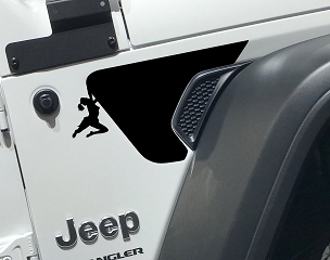 Jeep Wrangler JL Rubicon Female Climber V1 Fender Vent Vinyl Decal