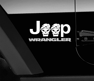 Jeep Wrangler Black Ops Side Fender Vinyl Decals x2 (Pair)