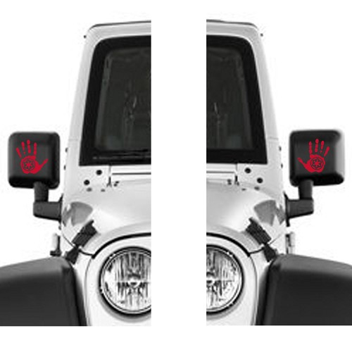 Pair Jeep Star Wars Imperial Signet Wave Hand Left Right Hand Vinyl Decal Sticker for Jeep Wrangler