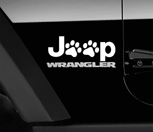 Jeep Wrangler Puppy Paws Side Fender Vinyl Decals x2 (Pair)