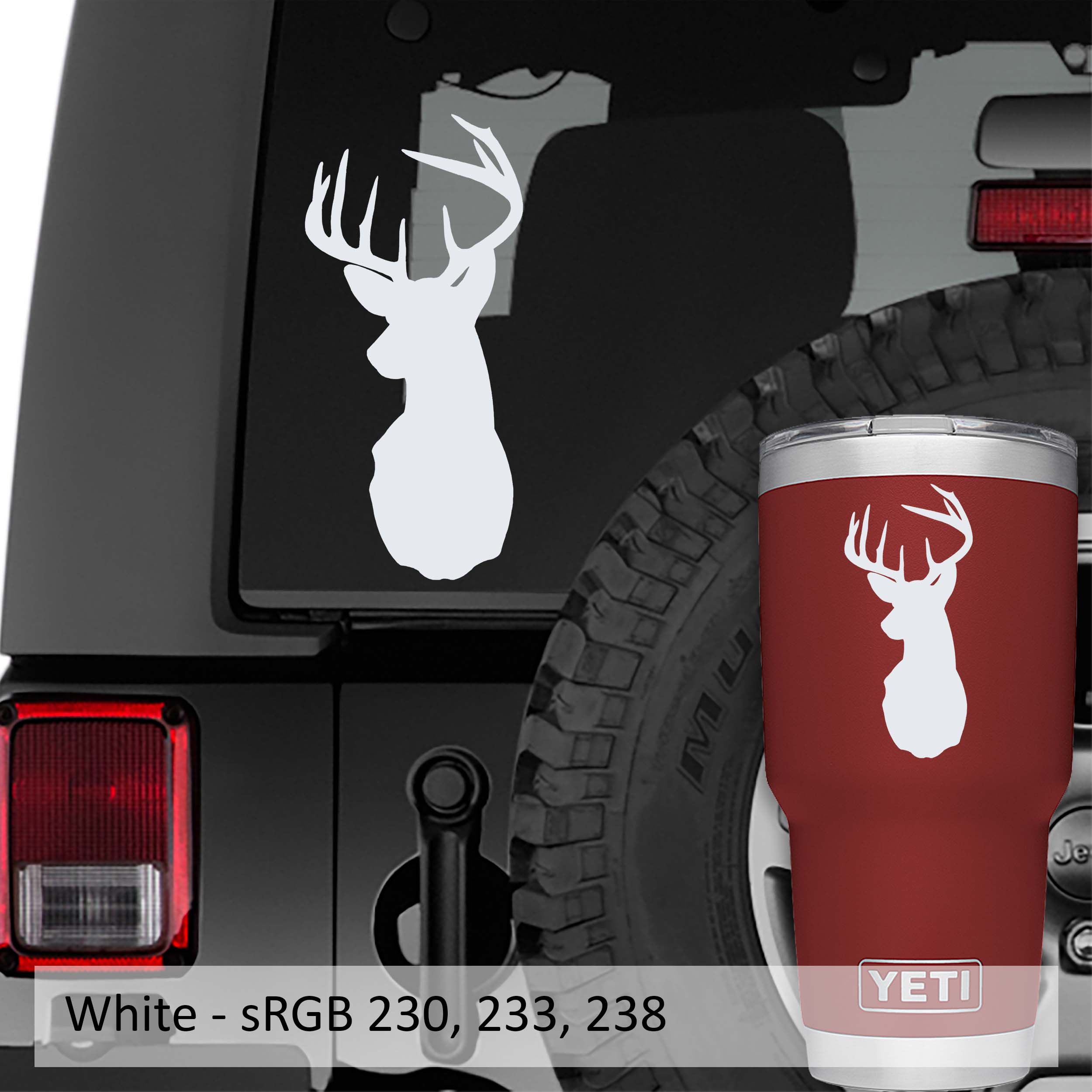 Deer Buck Head Vinyl Decal