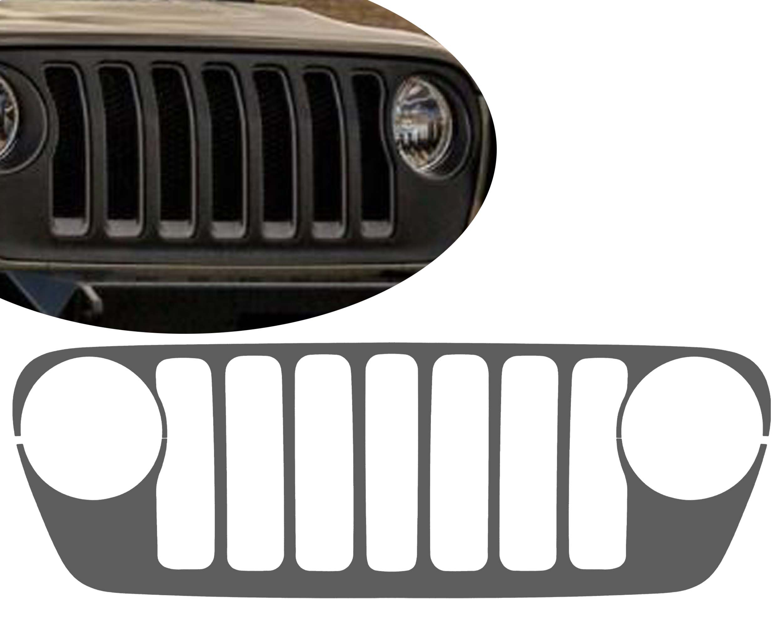 Grille Skin Vinyl Graphic for JL Wranglers & JT Gladiators 2018+
