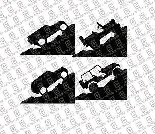 Jeep Windshield Easter Egg Corner Rock Climber Vinyl Decal