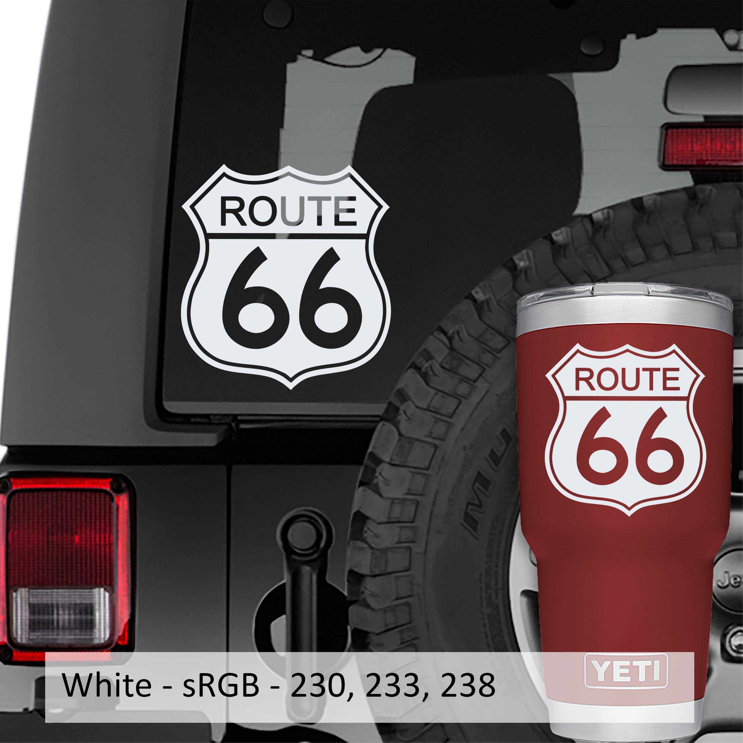 Route 66 Road Sign Vinyl Decal