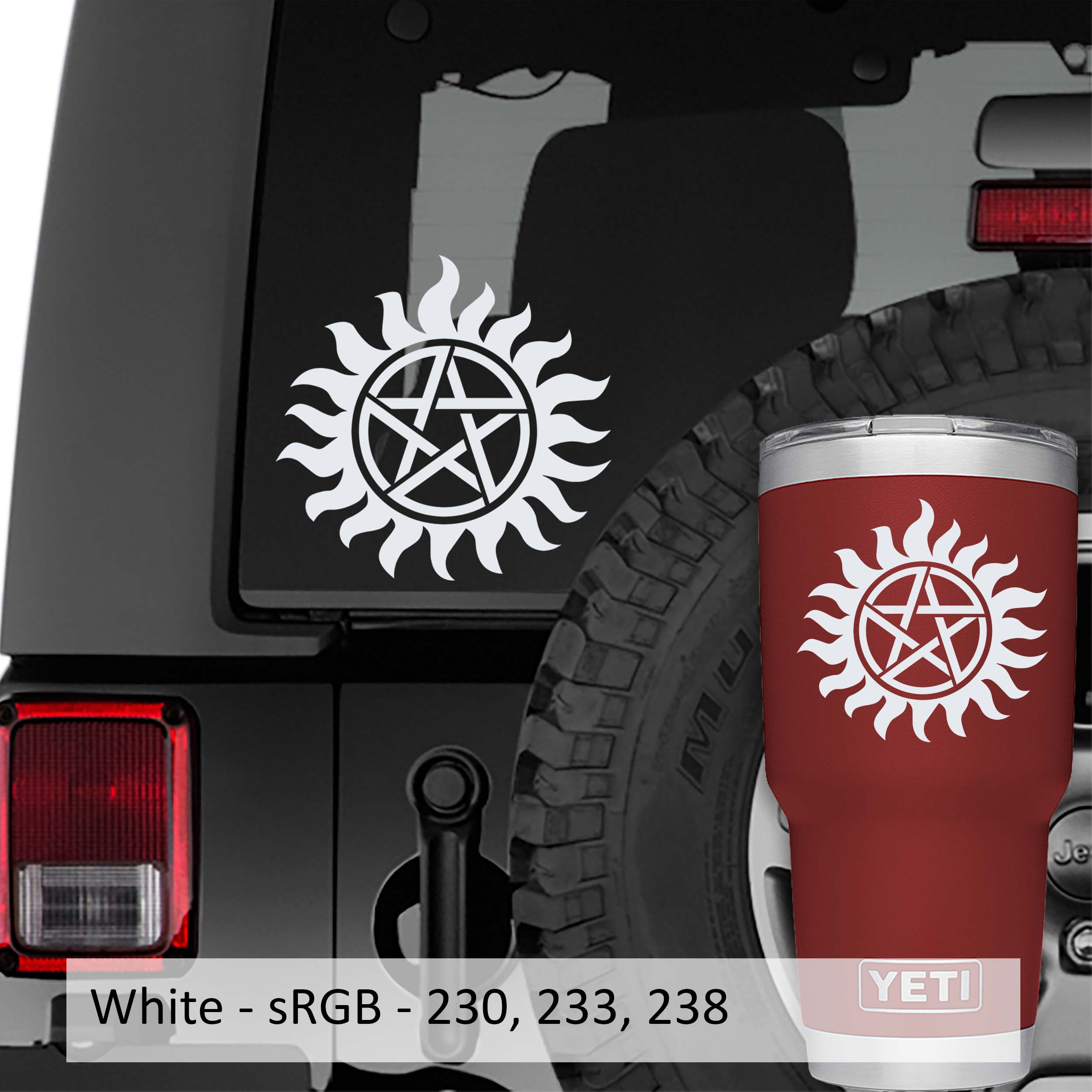 Supernatural Anti Possession Symbol Vinyl Decal
