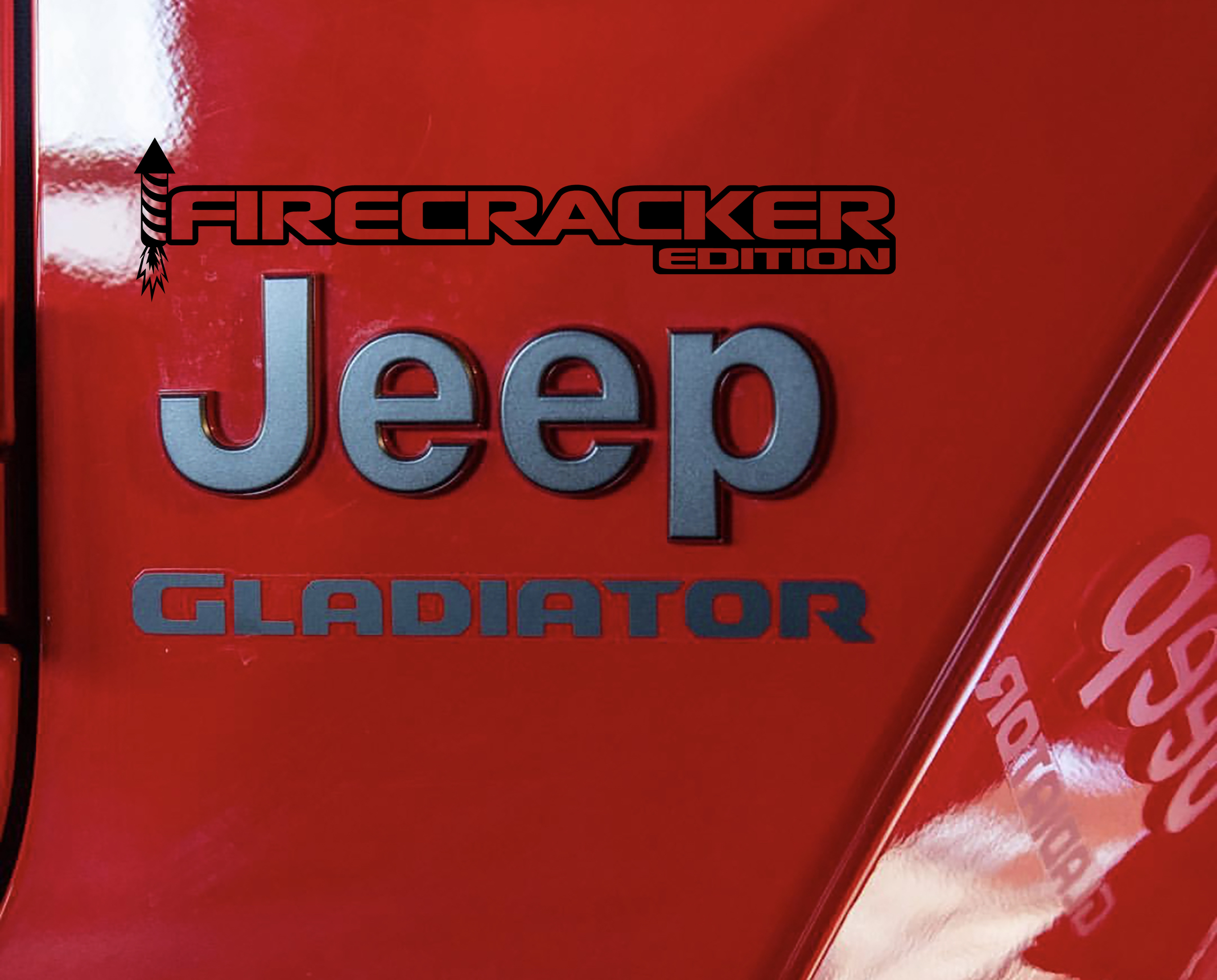 Fender Decals For Wrangler/Gladiator - JL/JT Firecracker Red Edition Decal (Pair)