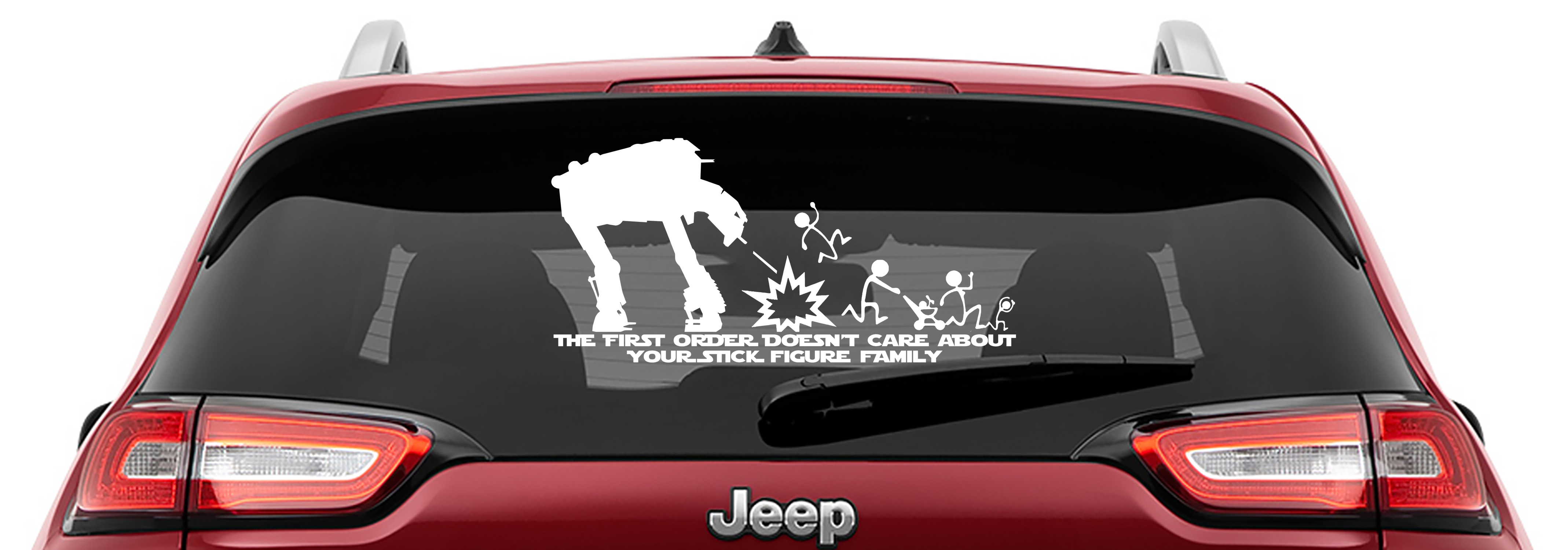 AT-M6 The First Order Doesn't Care Your Stick Figure Family Vinyl Decal