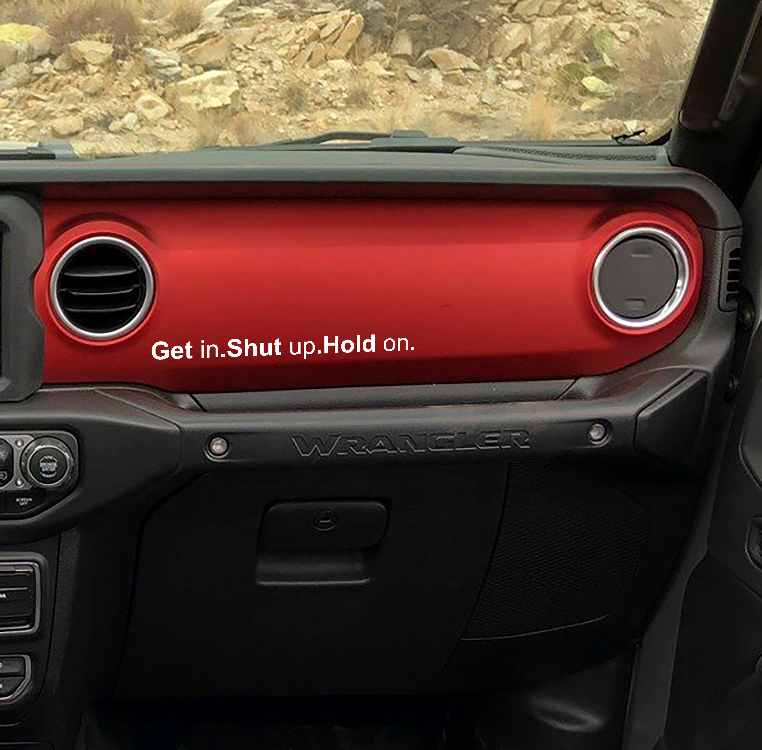 Vehicle Rules Get in Shut up Hang on Vinyl Decal