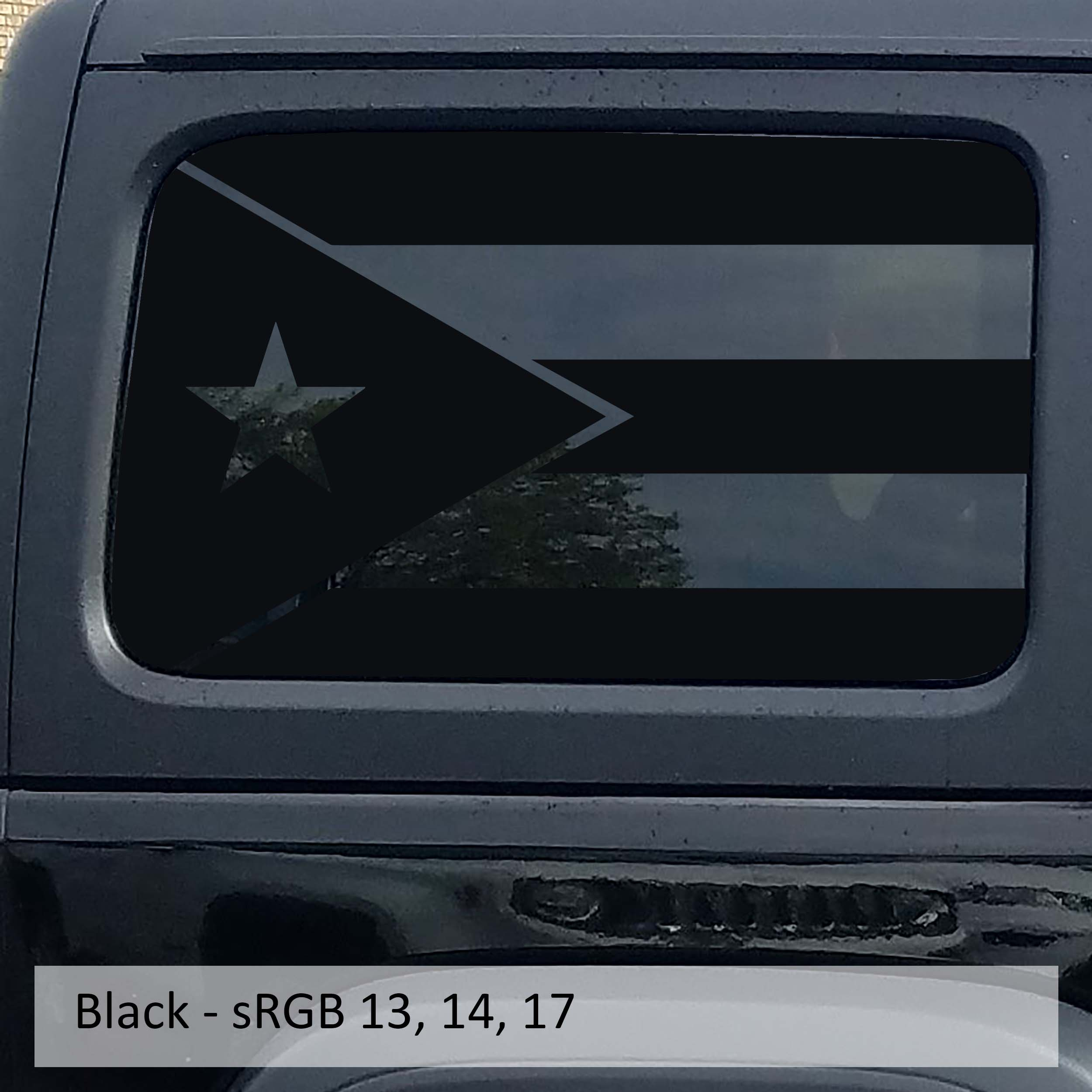 JkU & JLU Puerto Rico Flag Hardtop Window Vinyl Decal Set| 2007-2019+
