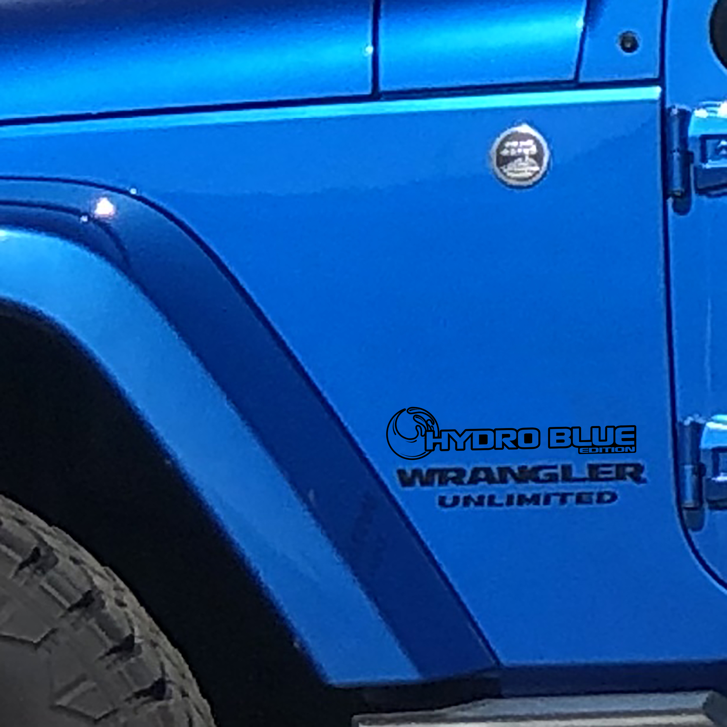 Fender Decals For Wrangler/Gladiator - JL/JT Hydro Blue Edition Decal (Pair)
