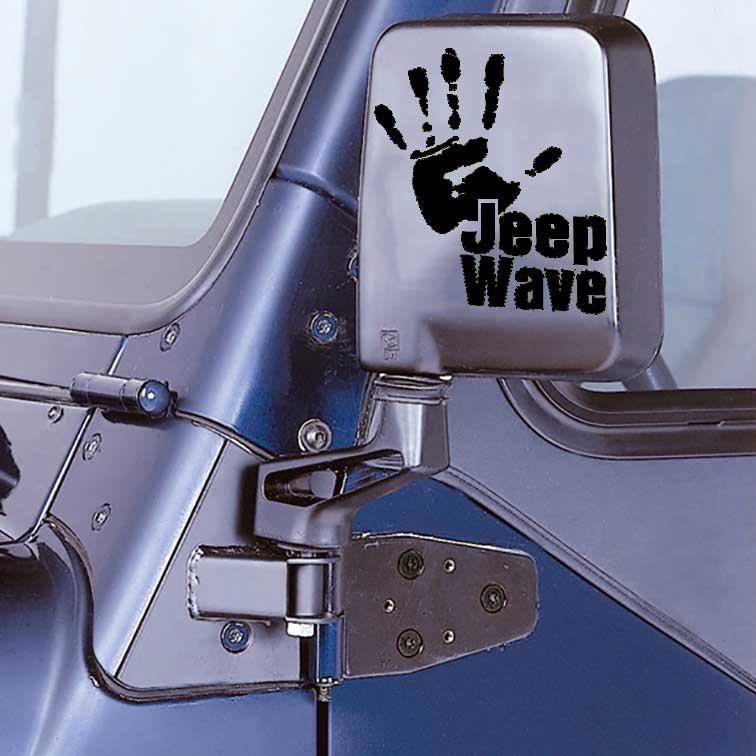 Jeep Wave Hand Vinyl Decal Sticker