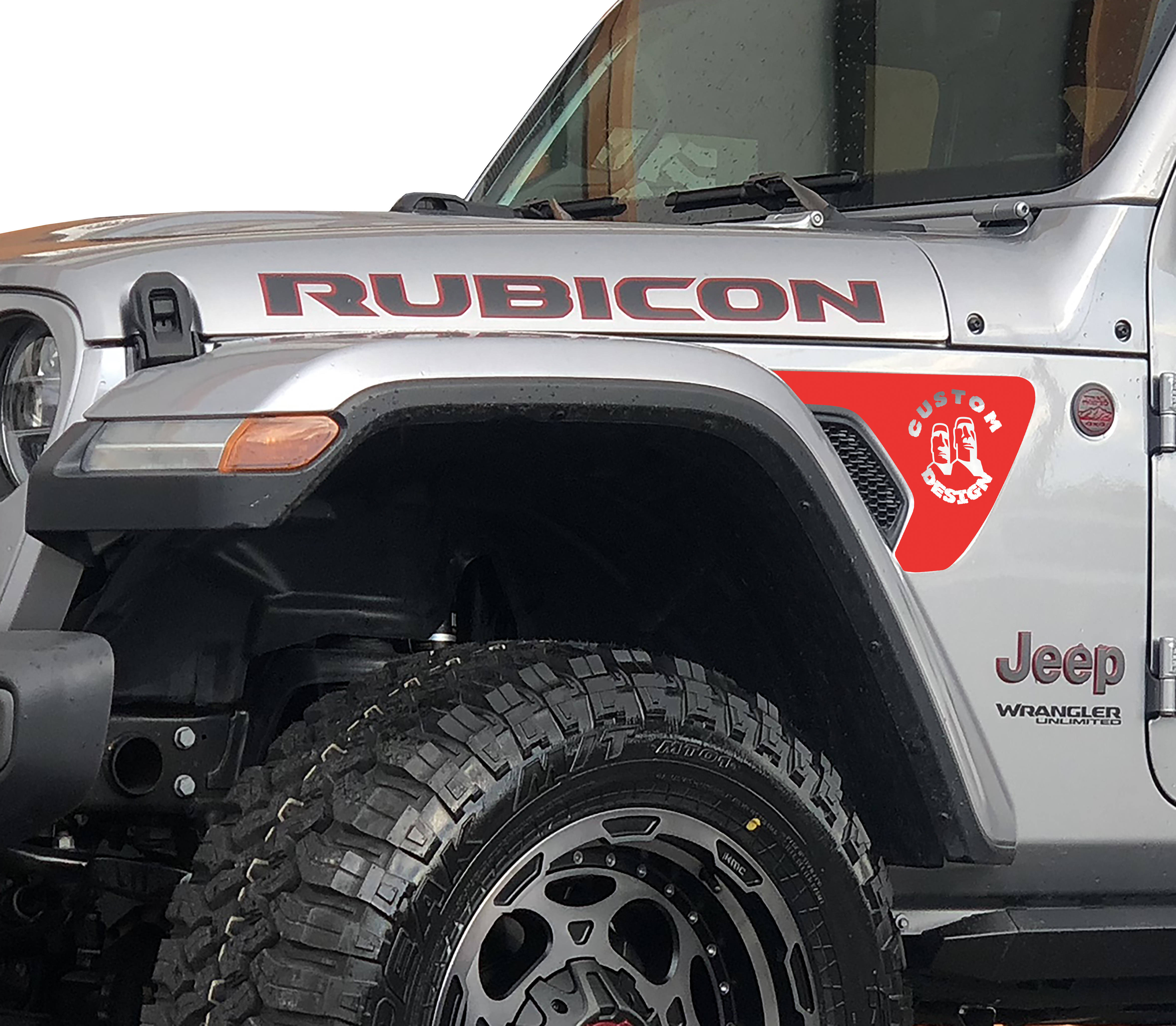 Custom Designed Vent Fender Graphic Decals for 18+ Wrangler JL JLU Gladiator JT