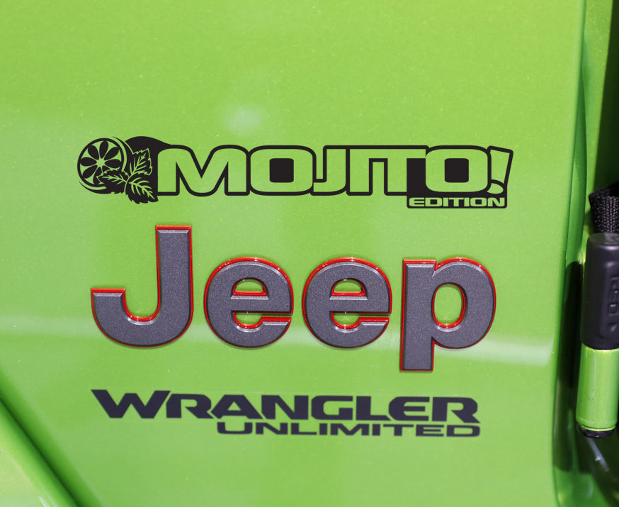Fender Decals For Wrangler/Gladiator - JL/JT Mojito! Edition Vinyl Decal (Pair)