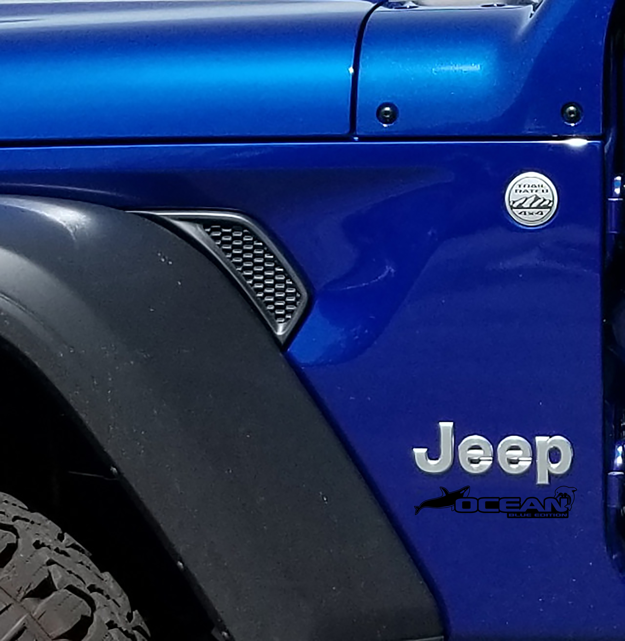 Fender Decals For Wrangler/Gladiator - JL/JT Ocean Blue Edition Decal (Pair)