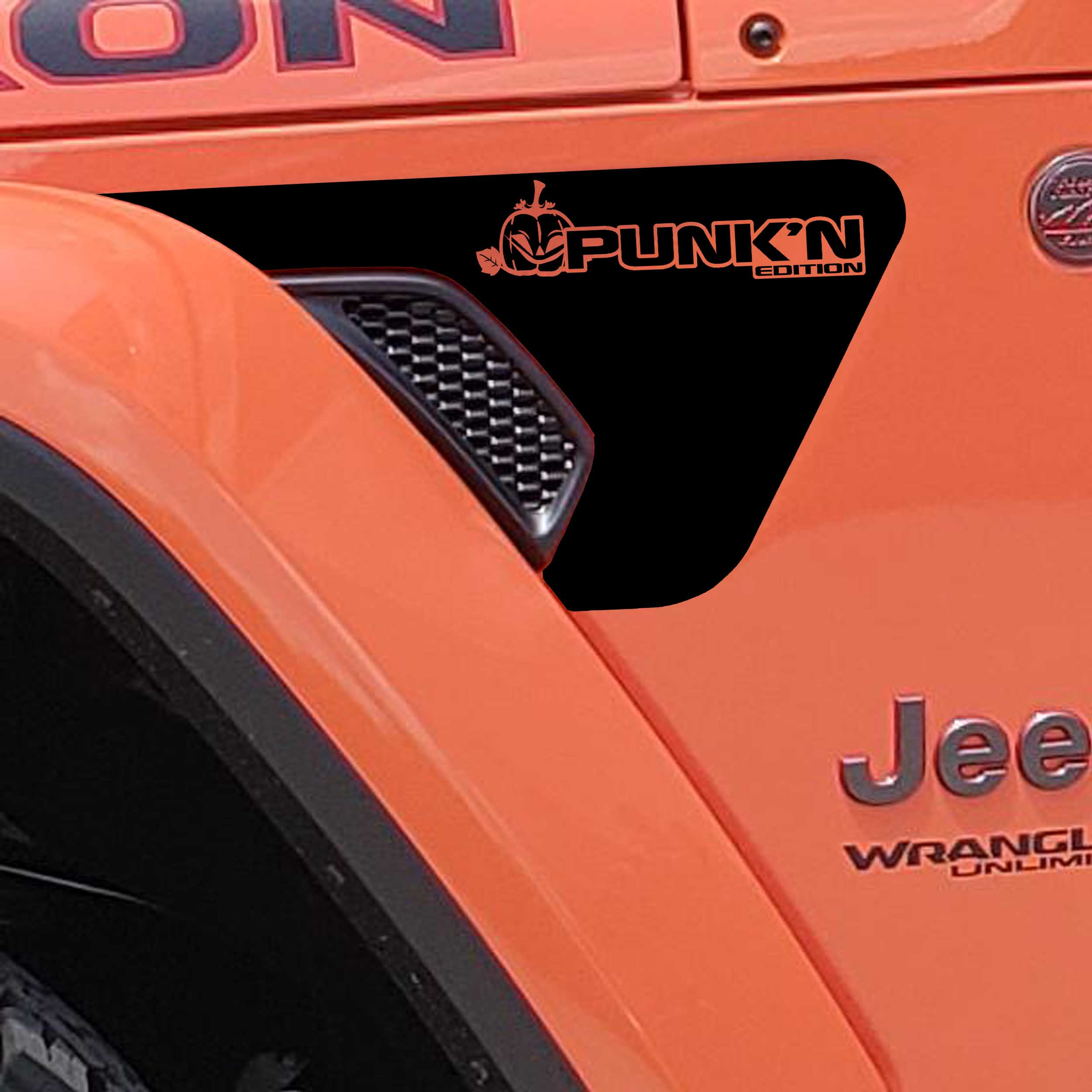 JL/JT Fender Vent Punk'N Edition Blackout Decal Pair