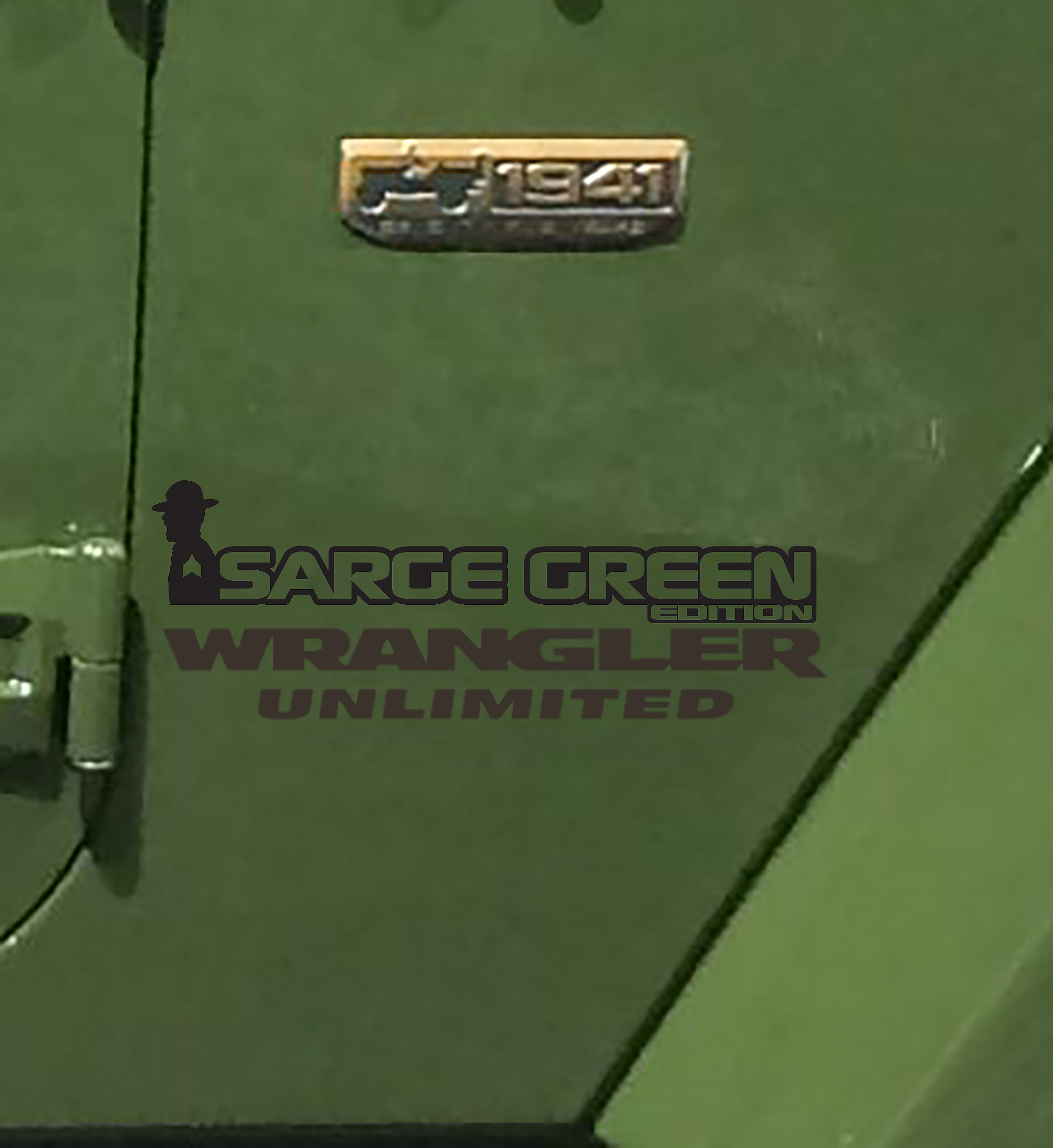 Fender Decals For Wrangler/Gladiator - JK/JL/JT Sarge Green Edition Decal (Pair)