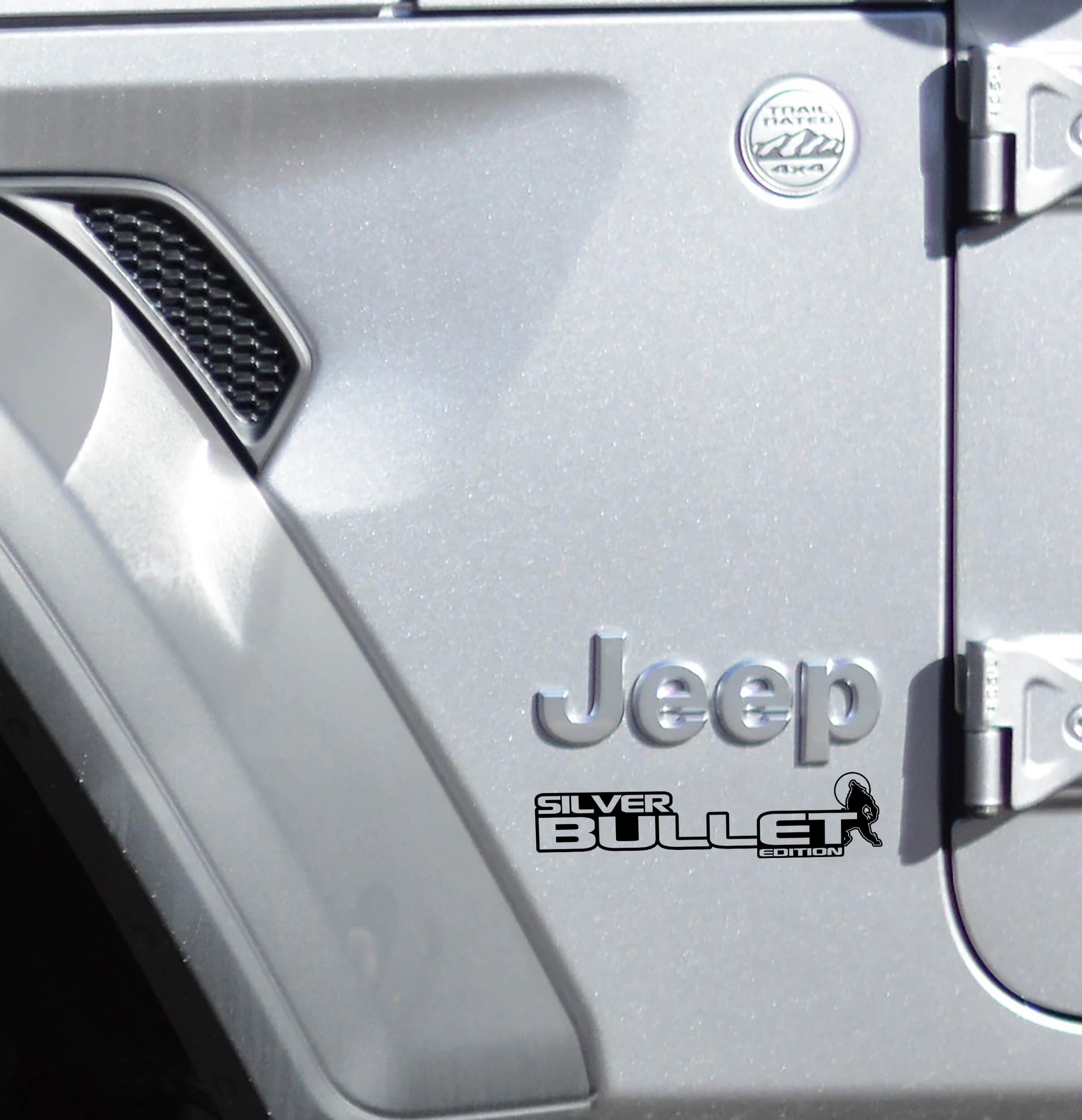 Fender Decals For Wrangler/Gladiator - JL/JT Silver Bullet Edition Decal (Pair)