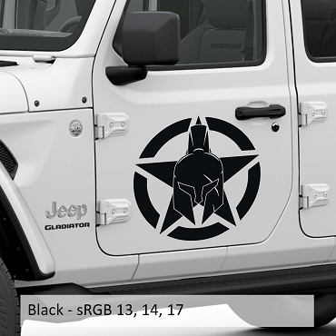 Gladiator Alpha Romeo Military Star Vinyl Decal