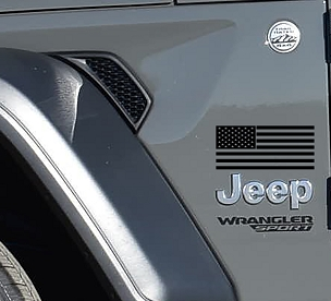 Jeep Wrangler x2 (Pair) American Flag Fender Vinyl Decal