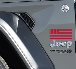 American Flag Fender Vinyl Decal x2 (Pair)
