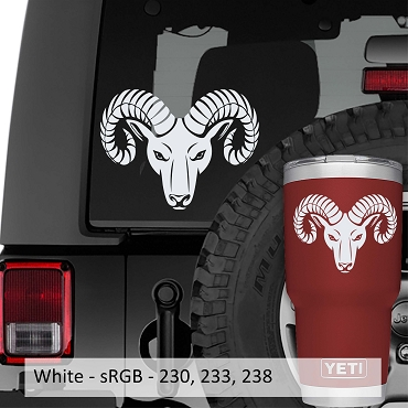 Zodiac Aries The Ram Head Vinyl Decal