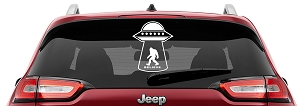 UFO Bigfoot Believe Vinyl Decal | UFO Sasquatch Believe Yeti Decals
