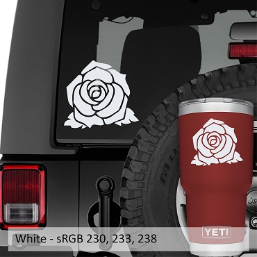 Bloomed Rose Flower Vinyl Decal