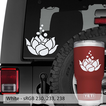 Blooming Lotus Flower Vinyl Decal