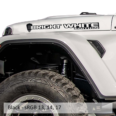 Bright White Edition Hood Decal Set
