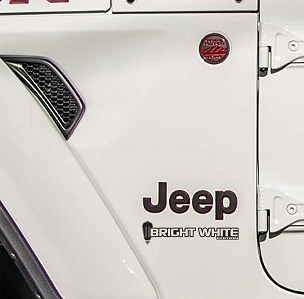 Fender Decals For Wrangler/Gladiator - JL/JT Bright White Edition Decal (Pair)