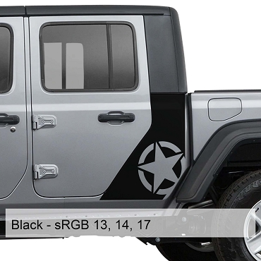 Alpha Romeo Star Bodyside Graphic Vinyl Decal for 20+ Gladiator JT