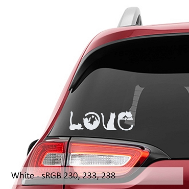 Love Cats - Cats Spell Out Love Vinyl Decal