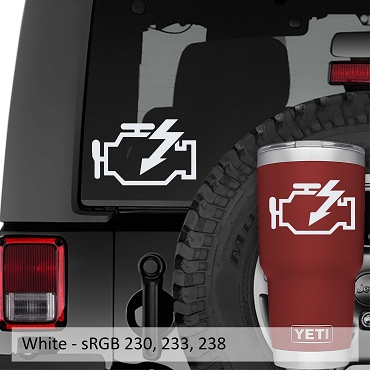 Check Engine Light Vinyl Decal