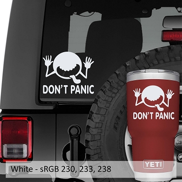Don't Panic! It's Just The 'Cosmic Cutie' Vinyl Decal