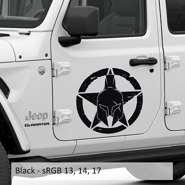 Distressed Gladiator Alpha Romeo Military Star Vinyl Decal