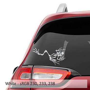 Bone Frog Skeleton Vinyl Decal