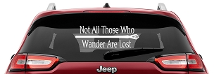 LOTR Gandalf Staff Not All Those Who Wander Are Lost | JRR Tolkien Quote Vinyl Decal