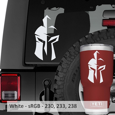 Gladiator Helmet Design Vinyl Decal