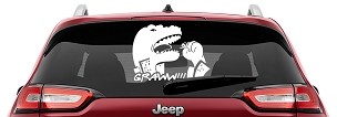 Godzilla Eating Stick figure Graww Vinyl Decal