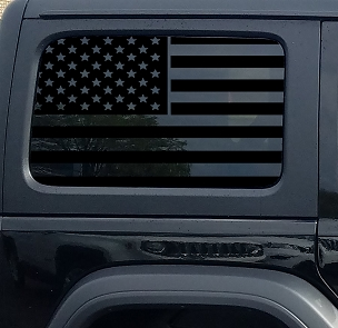 Jeep Wrangler Jk & JL American Flag Window Hardtop Set Vinyl Decal | 2007-2019+