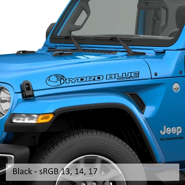 Hydro Blue Edition Side Hood Decal Set