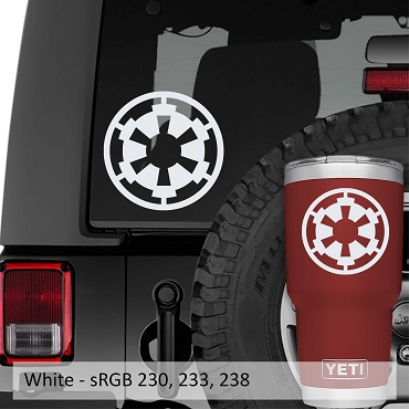 Galactic Empire Imperial Signet Cog Logo Vinyl Decal