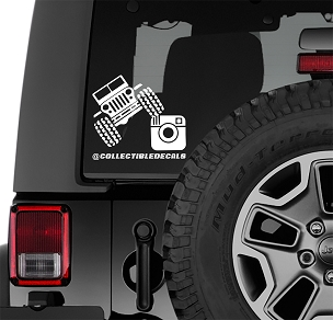 4x4 Instagram Custom Vinyl Decal | Personalized TJ/JK/JL Decal | Personalized Social Media Instagram Vinyl Decal