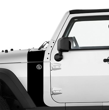 JK/JKU Hood Cowl & Fender Stripe Graphic Vinyl Decal Kit x2 (Pair)