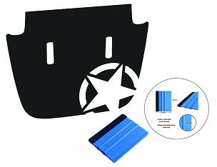 Alpha Romeo Military Star Blackout Hood Decal for JL/JT Sport/Sahara 2018-Present Models