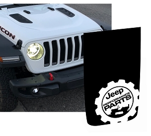 JL/JT Power-Dome Performance Parts Hood Blackout Decal